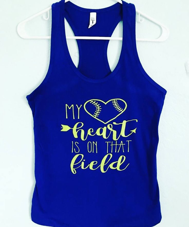 My heart is on that field- Softball Season Tank Top- Softball MOM-Softball team-Softball player-Team Shirt-Gifts for Softball Players- Coach by giggletee on Etsy