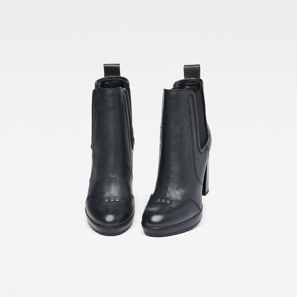 G-Star Raw Shona Chelsea Boots ($225) ❤ liked on Polyvore featuring shoes, boots, ankle booties, bakelite, slipon boots, 2 tone boots, chelsea boots, beatle boots and elastic boots