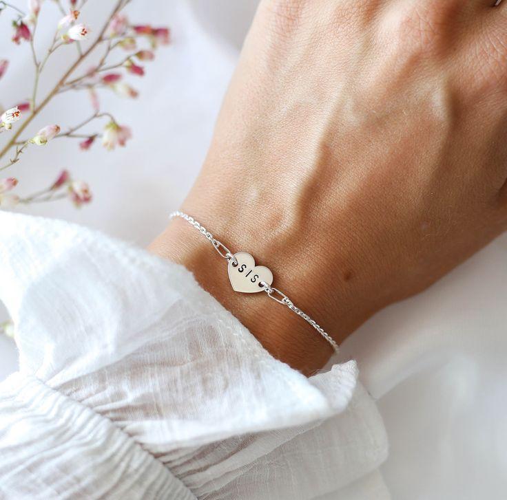 Sister bracelet sis bracelet unbiological sister gift