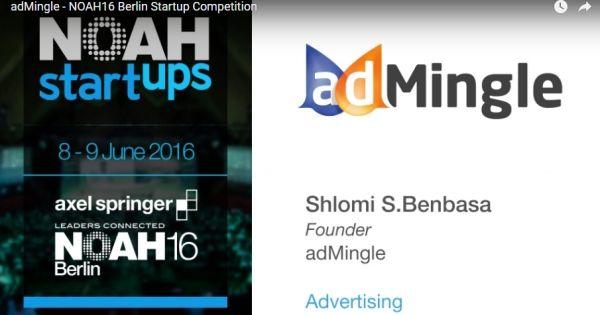 adMingle alla Noah Start-up Competition? :O Votiamo!! #ad