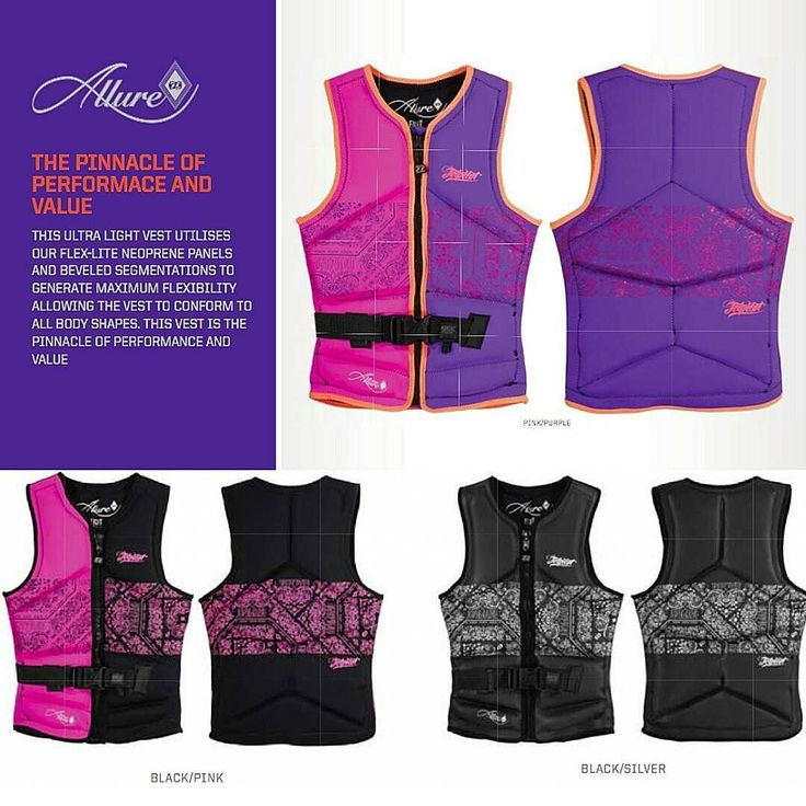 Jet Pilot Allure Seg Front-Entry Neo Ladies JA5298 Lifejacket Floats  Price :462 MYR  Condition :Brand New  Color :PINK/PURPLE | BLACK/PINK|BLACK/SILVER  Sizes :6 8 10 12 14 16  Stock Availability : Contact us at sales@meganrata.com / 60358820205  Product Features:  Ultra lite weight construction & design  PVC Foam core for supreme buoyancy  Custom high density screen printed logos  Visit : http://ift.tt/214JIIb .  #JPLIFE  #Jetpilot  #Seadoo  #Malaysia  #JetpilotMalaysia  #watersport…