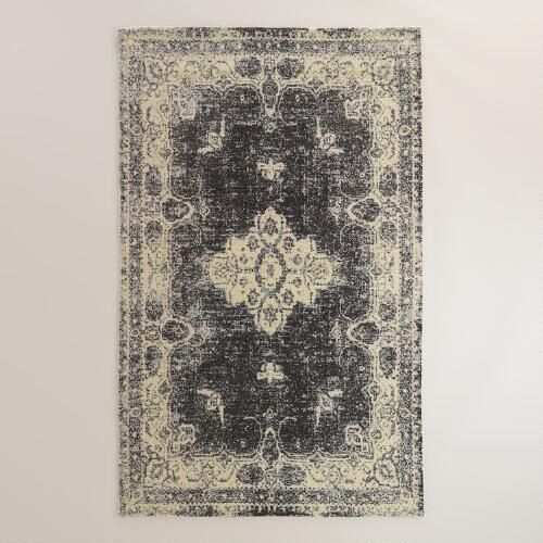 One of my favorite discoveries at WorldMarket.com: 5'x8' Black Tufted Leila Area Rug