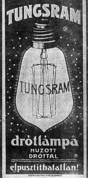 Tungsram plakát 1904-ből. Poster 1904