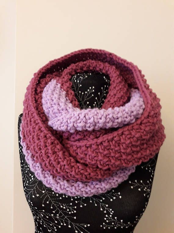 Scarf in two turns.Scarf.Scarf knit for women.Knitted handmade
