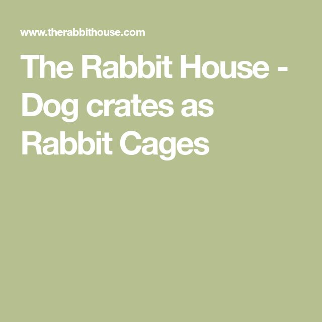 The Rabbit House - Dog crates as Rabbit Cages