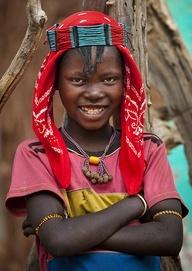 Africa    Banna tribe girl - Key Afer Ethiopia   © Eric Lafforgue