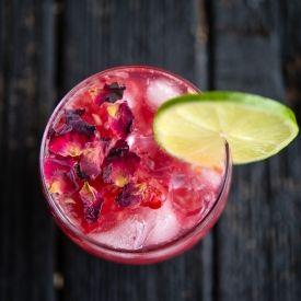 Raspberry Rose Gin and Tonic - Kravers