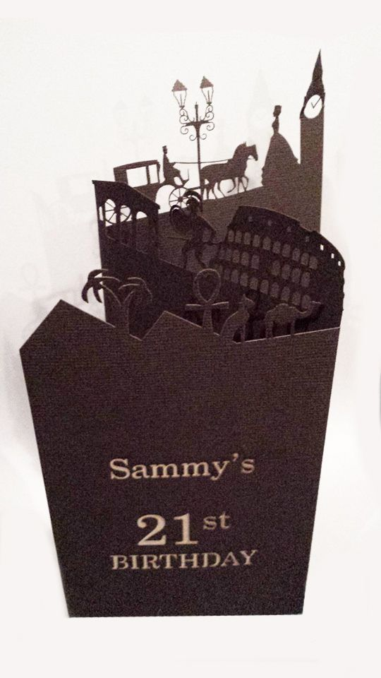 21st Birthday Invitations Laser Cut - Historical Theme designed and cut by Imagine If Creative Studios