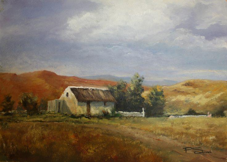 Karoo Cottage.   50 x 36cm  Oil on canvas