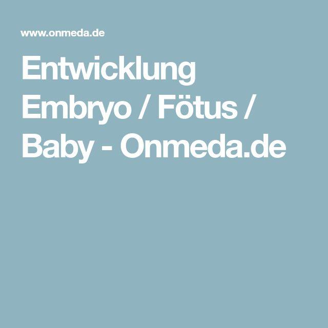Entwicklung Embryo / Fötus / Baby - Onmeda.de