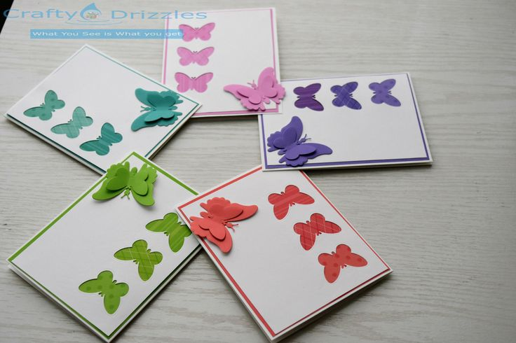 5 Handmade Unique Butterfly Greeting Card - Wedding/ Anniversary / Birthday/ Seasonal/ Thanks / Congratulations/ Special occasion Card by CraftyDrizzles on Etsy