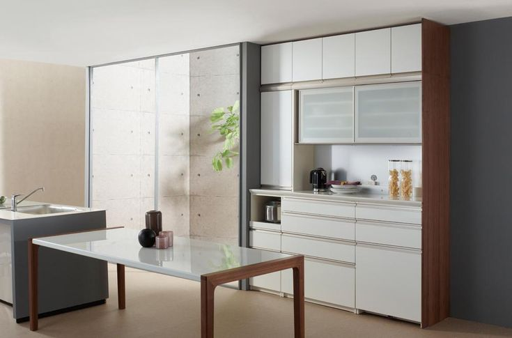 突板サイド化粧パネル 食器棚 家具メーカーのパモウナ パモウナ 食器棚 家具 キッチンボード パモウナ