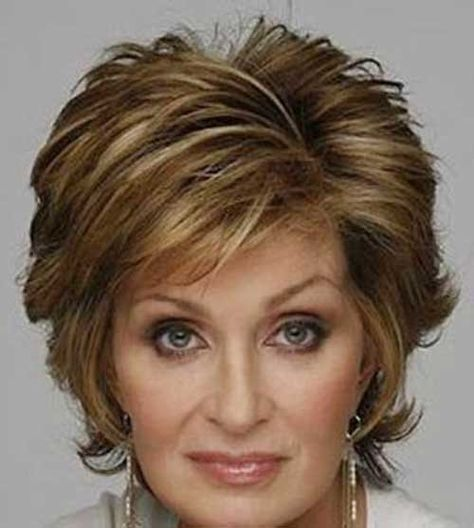Highlighted Short Hair for Older Ladies