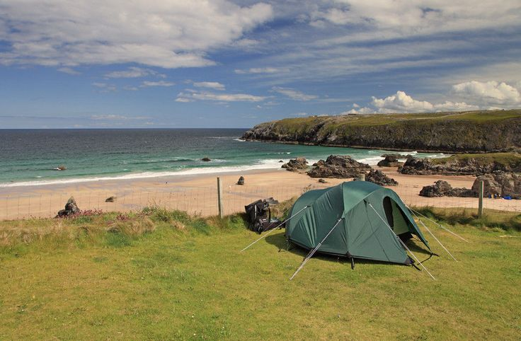 As far as remote camping goes, it doesn't get much better than Sango Sands – a lone campsite teetering on the edge of the top north-west corner of Scotland.