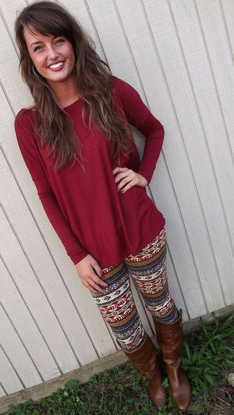 Ethnic Print Leggings. I'm a tad obsessed with printed leggings lately