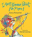 "The children painted colorful designs on their arms after reading the book ""Ain't Gonna Paint No More"" by Karen Beaumont."