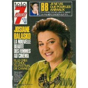 """Josiane Balasko créé le choc du festival de Cannes avec """"Trop belle pour toi"""", dans Télé 7 jours (n°1512) du 20/05/1989 [couverture mise en vente par Presse-Mémoire]"""