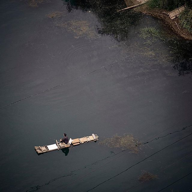 #Guilin #China #River #fishing #birdseyeview #peaceful #travel #editorial #photography