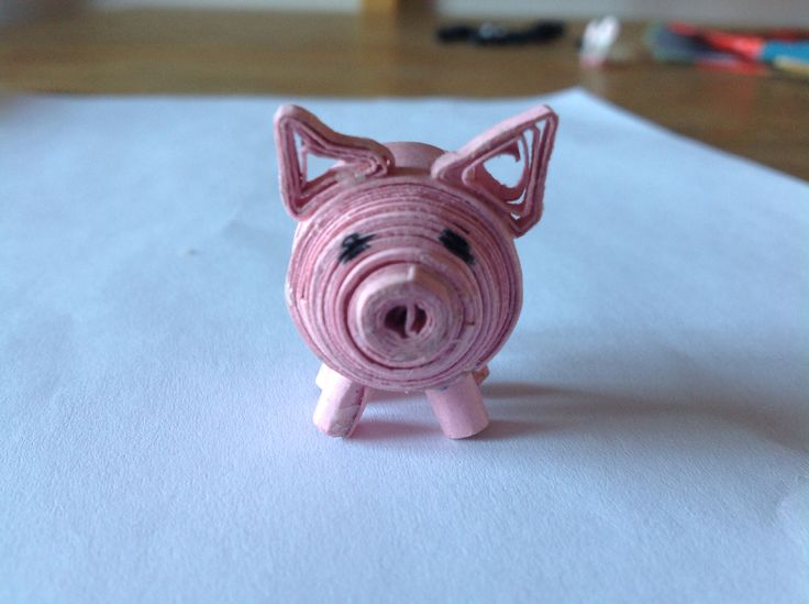 Maialino quilling 3d