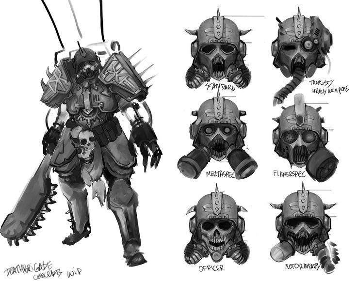 Warhammer 40k Space Marine Concept Art
