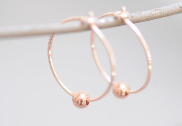 Creolen - Creolen Ohrringe Ohrhänger Rosegold 925er - ein Designerstück von Werkart bei DaWanda