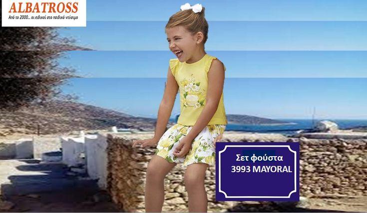 Σετ φούστα σταμπωτή 3993 MAYORAL. Στα μεγέθη από Νο2 έως Νο9. Η μπλούζα σε κίτρινο χρώμα με ιδιαίτερο τελείωμα στα μανίκια και μεταξοτυπία εμπρός . Η φούστα γεμάτη με όμορφα λουλούδια  ➡️http://albatross-junior.gr/koritsi/mini-girl/set/set-foysta-stampoti-3993-mayoral/