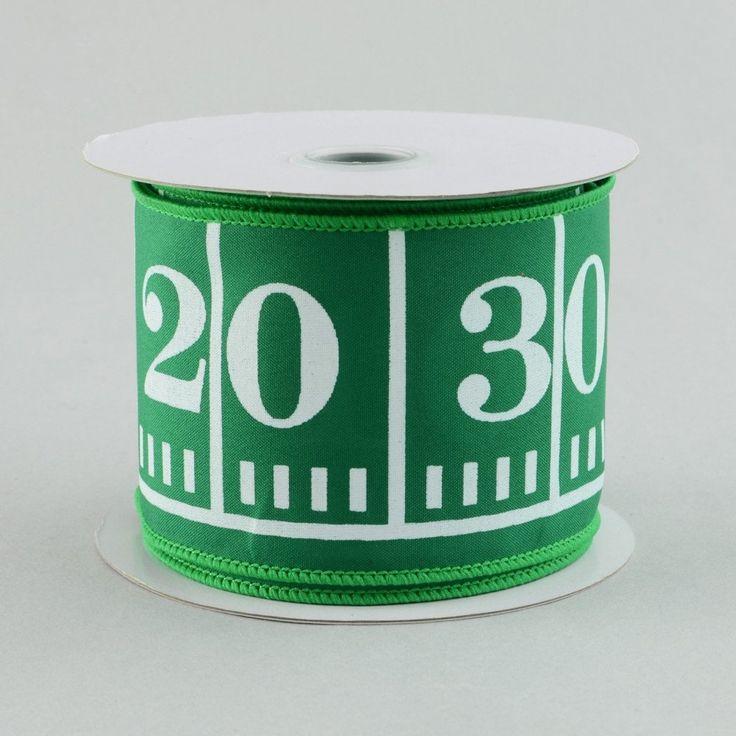 "2.5"" Green Football Field Marker Ribbon (10 Yards)"