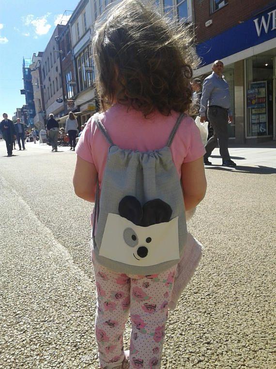 Waterproof Mickey Mouse backpack, kids backpack, vegan bag, animal backpack, toddler backpack