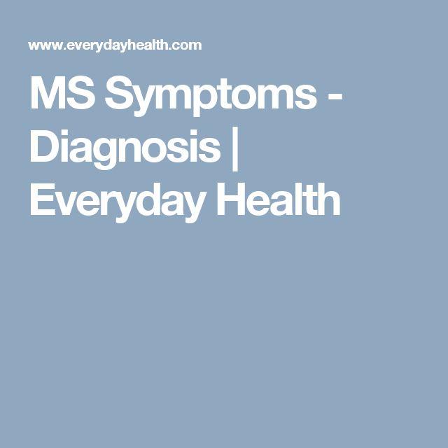 MS Symptoms - Diagnosis | Everyday Health