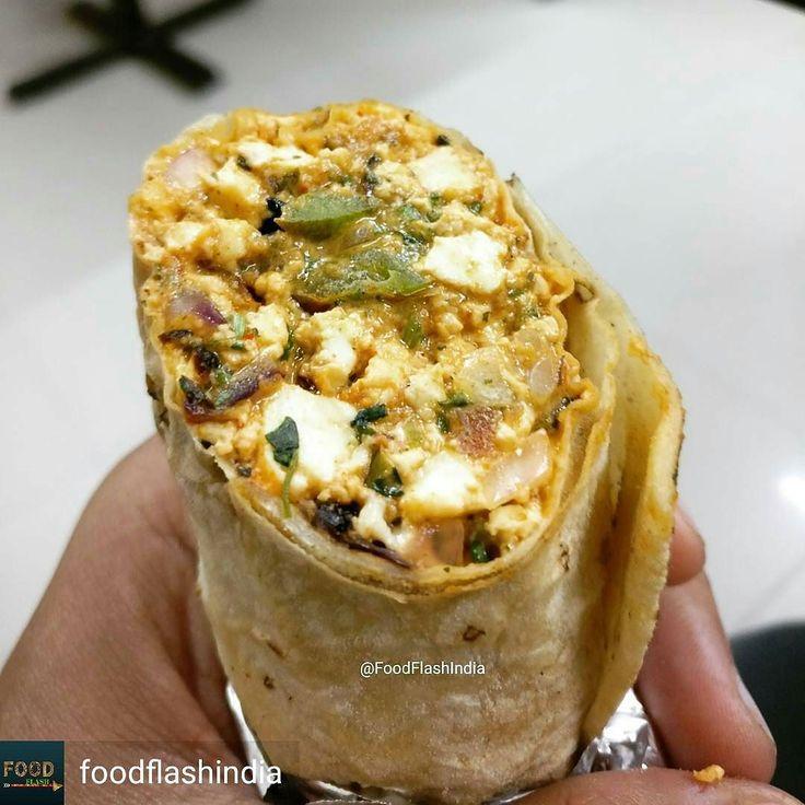 Via @foodflashindia -  Paneer Tikka wrapped in Rumali Roti.  We had this Paneer Tikka Roll at Kukkad Nukkad GTB Nagar.  Cost: Rs 120  Follow @foodflashindia and use #FoodFlash in all your pics.  #Picoftheday #Like4like #likesforlikes #sodelhi #nomnom #indianfood #paneer #paneertikka #delhi_igers #awesome #rolls #delicious #dfordelhi #eeeeeats #delhigram #foodaholic #foodblogger #delhi #foodie #streetfood #foodphotography #foodporn #foodcoma #foodtalkindia #instafood #eatingfortheinsta…