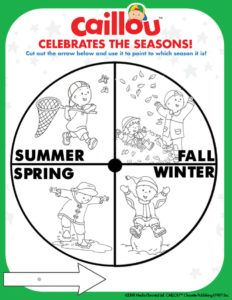 Caillou Celebrates The Seasons Activity