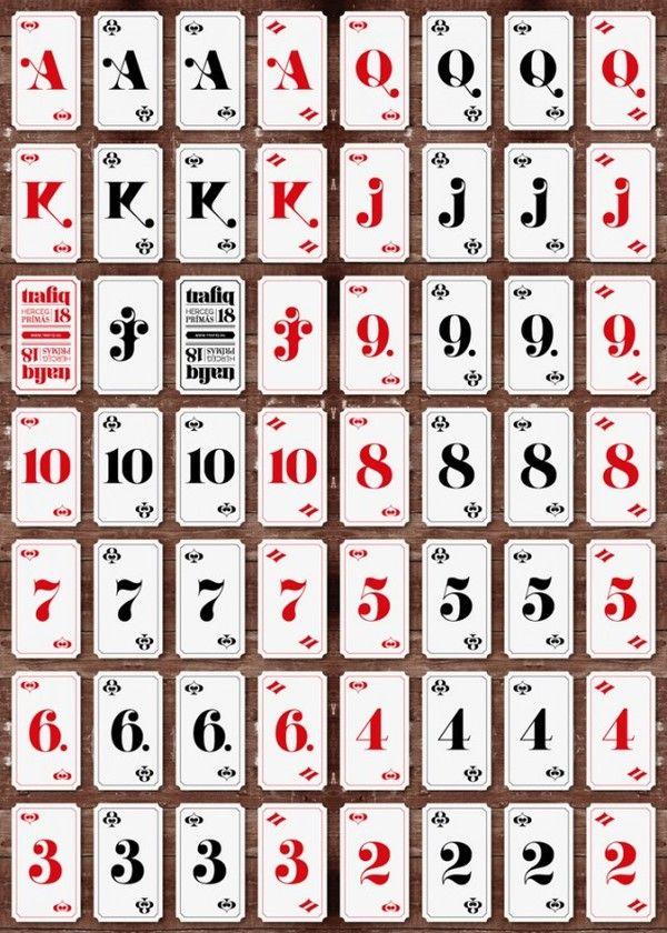 Trafiq Bar Identity // numeric playing card design