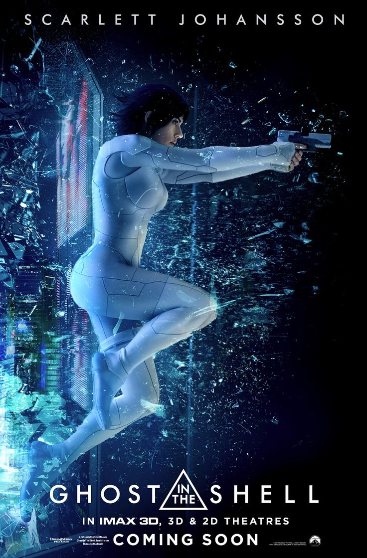 Two IMAX one-sheets for the live-action remake of Ghost in The Shell have been released. One features The Major (Scarlett Johansson), while the other gives us a new look at that creepy robotic Geisha...