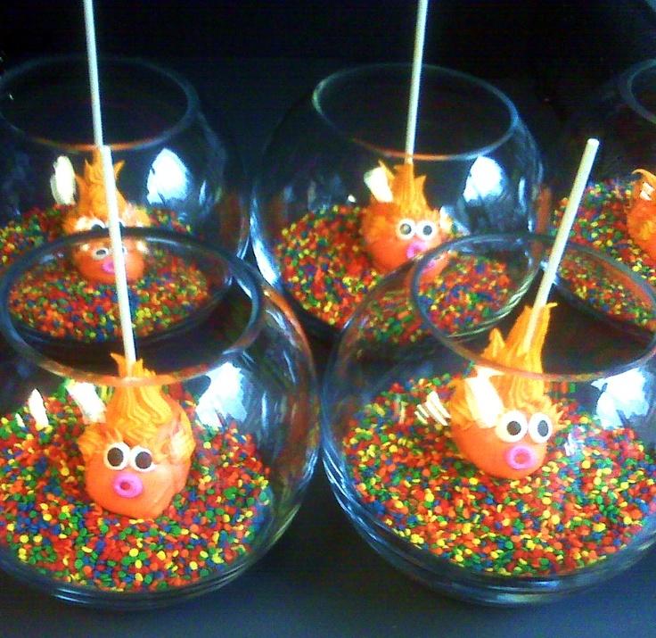 Fish Cake Pops - so freakin cute!