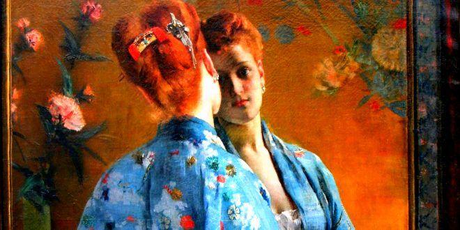 ALFRED STEVENS (1823/1906), PITTORE BELGA – Il pittore di immenso successo, conosciuto per i suoi dipinti di eleganti donne moderne - Meeting Benches