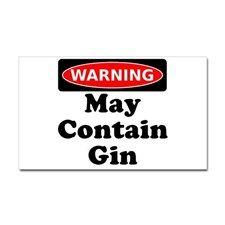 Warning May Contain Gin Sticker for