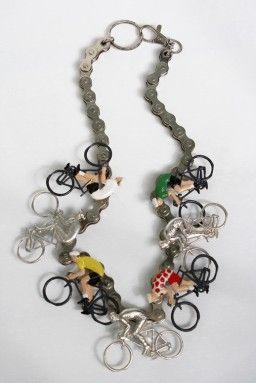 "Mervi Kurvinen ~""Vive le Tour"" necklace. | FinnishDesigners.fi"