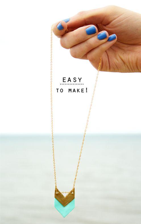 #Diy make your own #geometric #jewellery