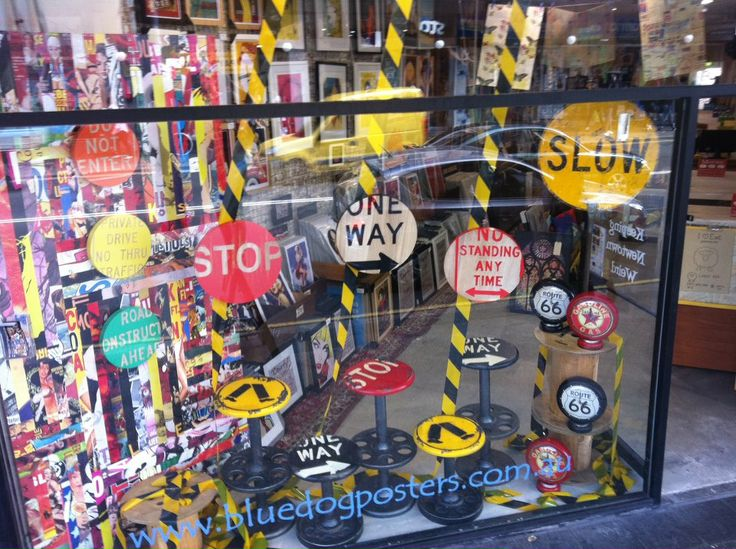 Industrial Design Shop Window July 2013, Blue Dog Posters, Newtown, Sydney.
