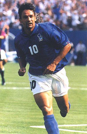 """Roberto Baggio. Il Codino Divina. The """"Divine Ponytail""""."""