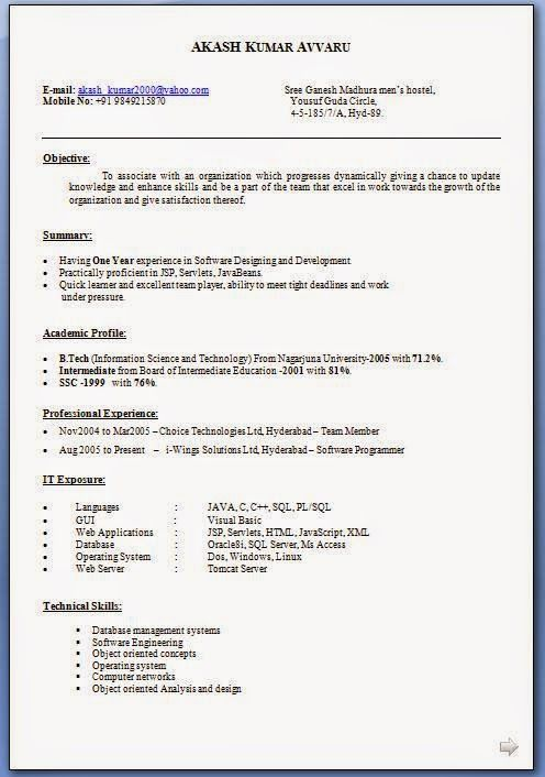 Hacer Un Curriculum Vitae Sample Template Excellent