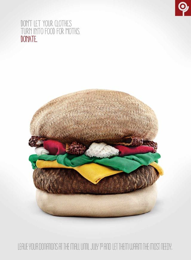 Ad Campaign for Used Clothing Drive Features Clever Food Sculptures Made of Clothing