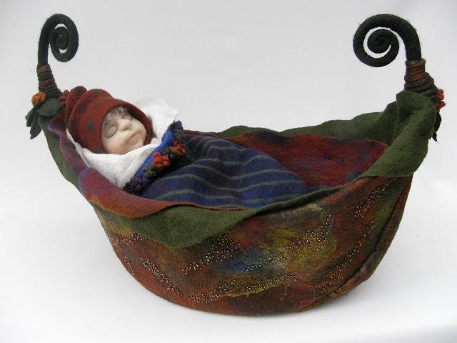 """Jill Gunn Felt and Fibre Artist: """"Little Boat Dreaming"""""""