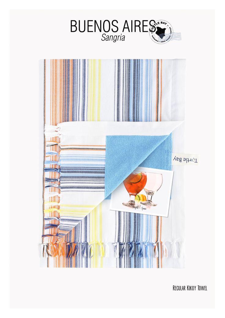 Regular Kikoy Towel : Buenos Aires Sangria