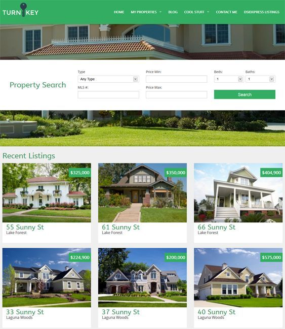 This real estate WordPress theme features dsIDXpress support, a responsive layout, unlimited colors, a page builder, a Bootstrap framework, custom shortcodes, a custom property post type, cross-browser compatibility, and more.