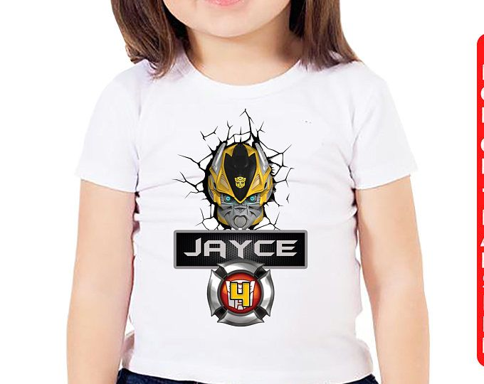 Bumblebee Iron On Transfer, Transformers Birthday Shirt Iron On Transfer, Birthday Shirt DIY Transfer, Personalized, DIGITAL FILE