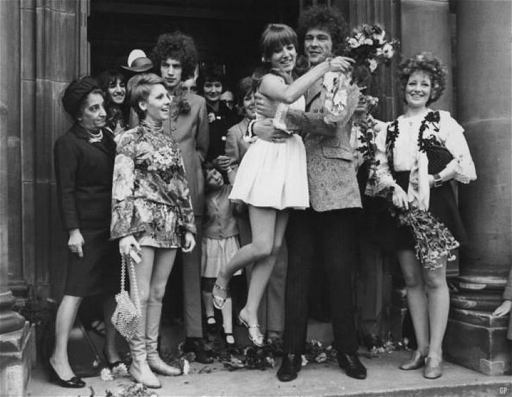1967 Wedding in London. Check out the expression on the face of the woman on the far left!