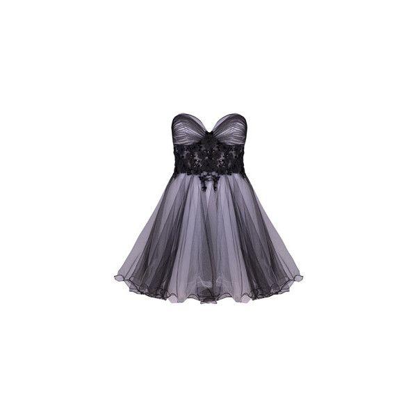 DRESSES - LACEY - BLACK - Forever Unique ($365) ❤ liked on Polyvore featuring dresses, vestidos, short dresses, vestiti, mini dress, asos, asos cocktail dresses and asos dresses