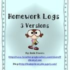 This download includes 3 different versions of a daily homework log.  ...