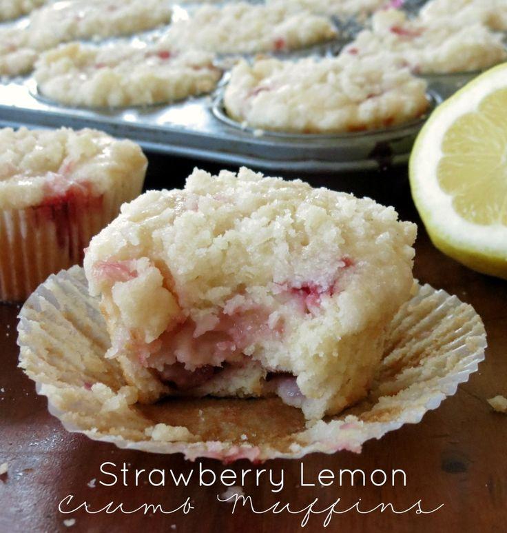 Strawberry Lemon Crumb Muffins